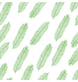 seamless pattern with christmas tree branch on vector image vector image