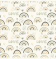 seamless pattern with hand drawn rainbows vector image