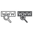 search line and glyph icon internet and network vector image vector image