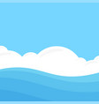 seascape in flat style vector image