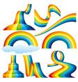 set of rainbows vector image vector image