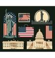 set symbols united states america vector image vector image