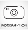 simple photo camera icon vector image vector image