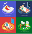 sleep time isometric design concept vector image vector image