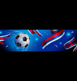 soccer ball banner for russia sport game event vector image vector image
