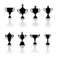 Sport trophies awards and cups vector image vector image