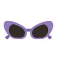 sunglasses purple frame fashion accessory cartoon vector image