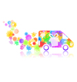 symbol of a truck with a gift box vector image vector image