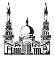 Symbol of Islam Silhouette of Mosque Ramadan vector image