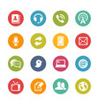 telecommunications icons - fresh colors series vector image vector image