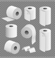 toilet paper roll tissue toilet towel icon vector image