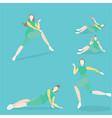 training women vector image