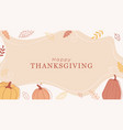 trendy minimal background with pumpkins vector image