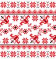 ukrainian slavic traditional folk knitted red vector image