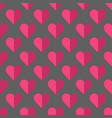 valentine pattern with hearts vector image
