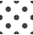 white round window pattern seamless black vector image vector image