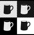 wooden beer mug icon isolated on black white and vector image vector image