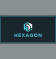 xh hexagon logo design inspiration vector image vector image