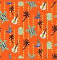 hawaii beach orange seamless pattern vector image