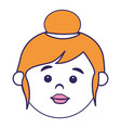 little girl head icon vector image