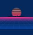80s retro sci-fi background retro futuristic vector image
