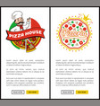 pizza house and pizzeria set vector image