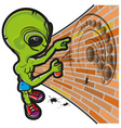Alien and crop circle vector image