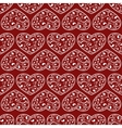 red hearts seamless vector image