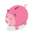 3d isometric flat concept piggy bank vector image
