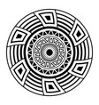 abstract circular ornament isolated ethnic vector image
