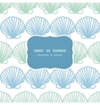 Abstract seashels stripes frame seamless pattern vector image