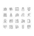 advertising business line icons signs set vector image vector image