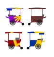 asian stree food cart vector image