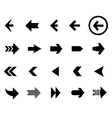 Back and next arrow icons set vector image