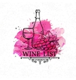 Banner hand drawn wine list vector image vector image