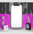 black friday social media banner template vector image