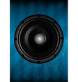 Black speaker with lines vector image