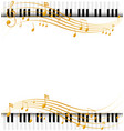 Border template with with piano keyboards and