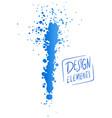 brush and splash design vector image
