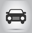 car icon in flat style automobile car on white vector image vector image