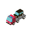 car towing truck service transport vehicle vector image