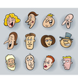 cartoon people faces vector image vector image