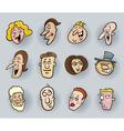 cartoon people faces vector image
