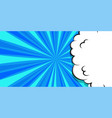 cartoon puff cloud blue background for text vector image