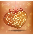 Christmas gingerbread heart vector image vector image
