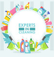 cleaning service brochure cover template vector image vector image