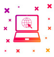 color website on laptop screen icon isolated on vector image vector image