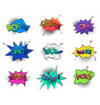 comic bubble speeches and sounds vector image vector image