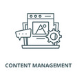 Content management line icon content