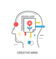 creative mind concept vector image vector image